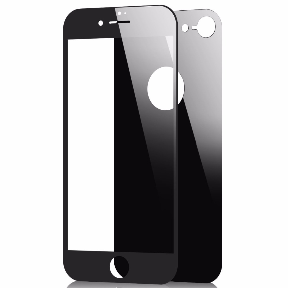 Posterior Negro 5D Protector de Pantalla de Vidrio Templado para Apple iPhone 8 Parte Delantera