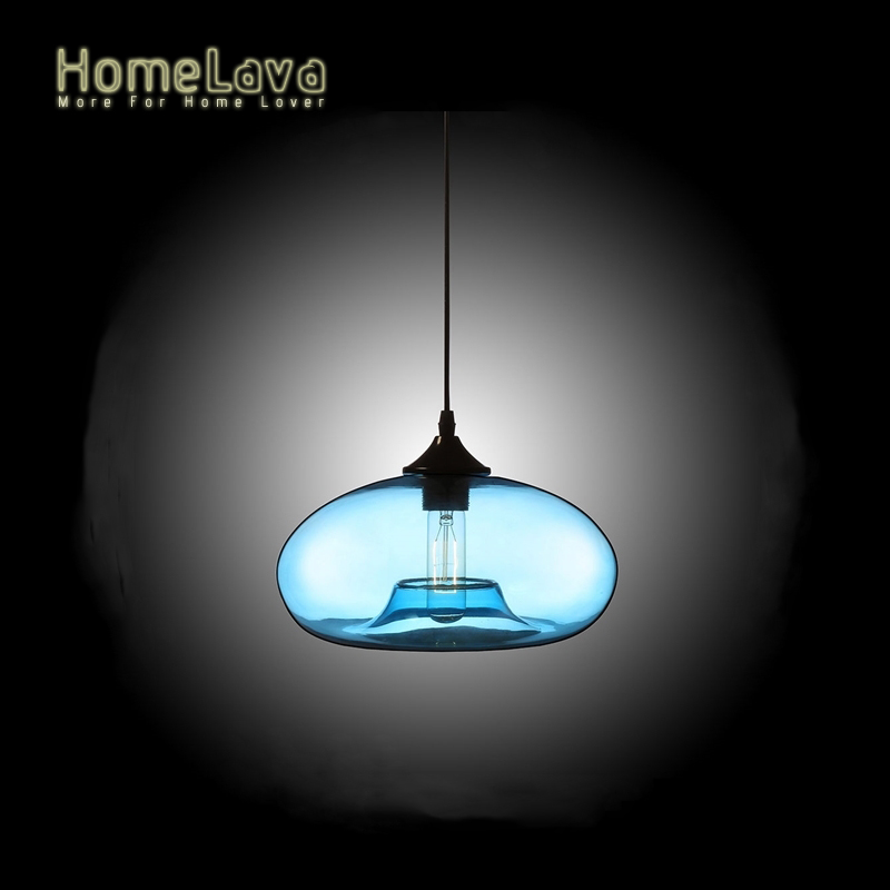 ФОТО Modern LED Glass Pendant Lights lamp for decor home lighting 3 Colors suspension luminaire