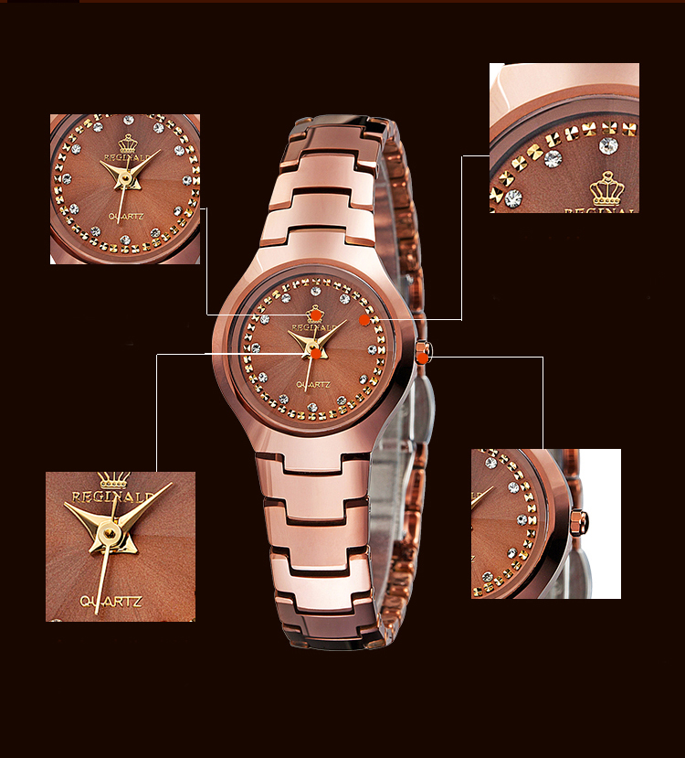Marca superior reginald relógios de luxo de
