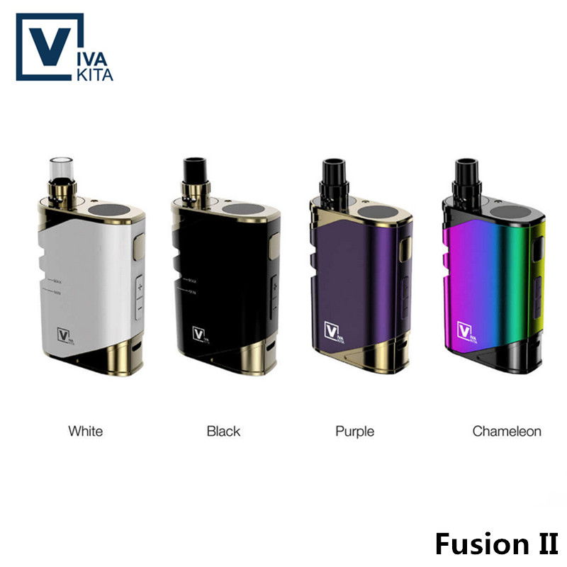 Fusion II vaporizers New Arrival Vivakita vape pens Variable Wattage Fusion 2 vw mod electronic cigarette mechanical Box Mod fusion 2 box vape 2017 vivakita vaping electronic cigarette fusion ii electronic kits with mechanical mod best selling