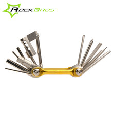Rockbros 11 In 1 Multi-functional Bicycle Repair Combination Tool Kits Set Portable Bike Tools Cycling Hex Screwdriver Parts(China)