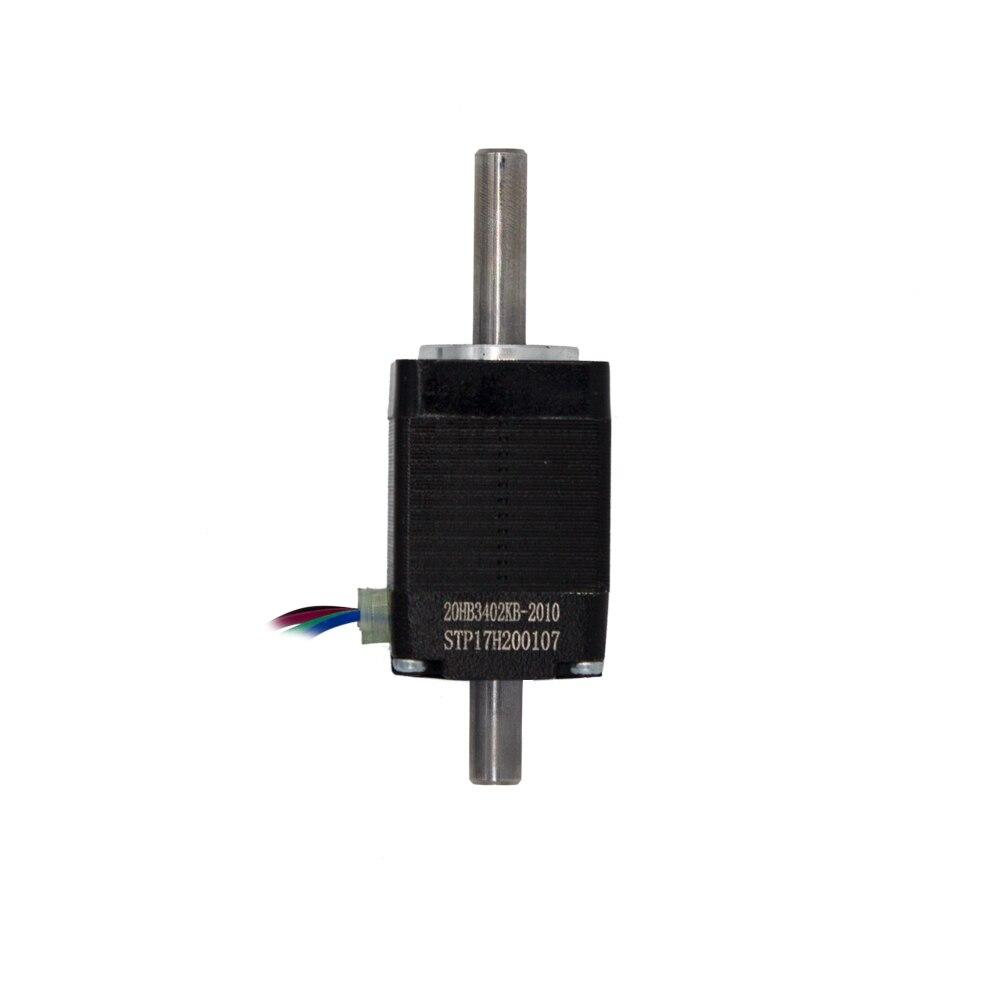 Stepper motor nema hollow shaft 8 20 Hybird 2 phase  0.8A 1.8 4 wire,length 30mm 3D printer accessories 20HB3402KB-2010Stepper motor nema hollow shaft 8 20 Hybird 2 phase  0.8A 1.8 4 wire,length 30mm 3D printer accessories 20HB3402KB-2010