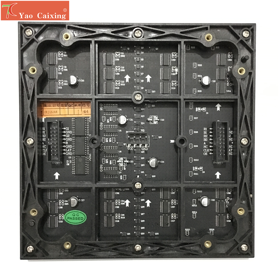 Free shipping Yao Caixing indoor smd P2.5 full color led screen 64x64 pixels panels  matrix module-in LED Displays from Electronic Components & Supplies