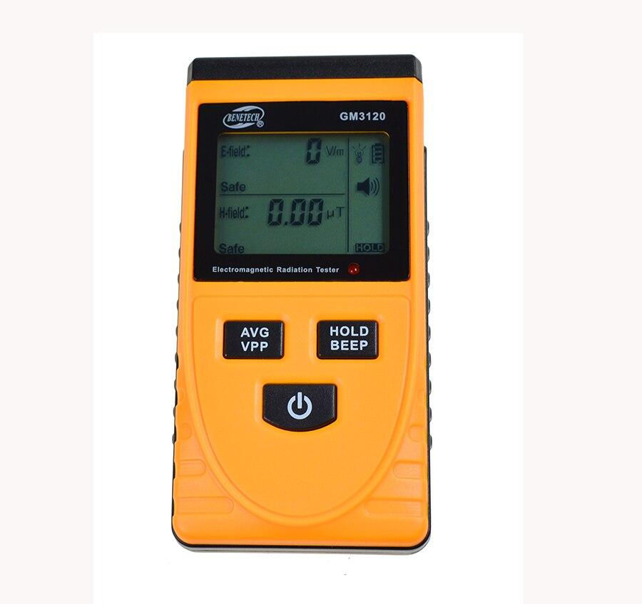 GM3120 Digital Electromagnetic Radiation meter Tester EMF Magnetic Electric Field MicroTesla V/m Tester Detector
