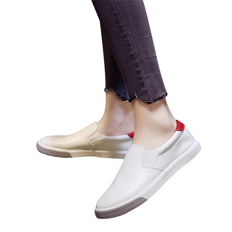 rouge Femmes Rond vert Dames Cuir On À En Haute Faible Casual Qualité Slip Bout Noir Talon Plate S Nouvelle Air Arrivée Chaussures Plein 2018 forme OXPWSFxg