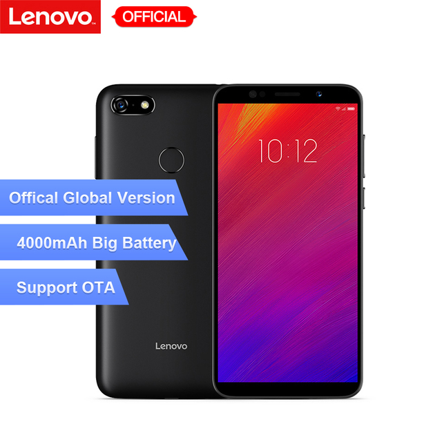 Versión Global Lenovo A5 3 GB RAM 16 GB ROM teléfono móvil MTK6739 Quad Core 5,45 'teléfono inteligente huellas dactilares 4G-LTE teléfono móvil