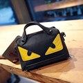 2016 new female handbag little monsters crashed color eye bag portable oblique satchel rivet package women messenger bag