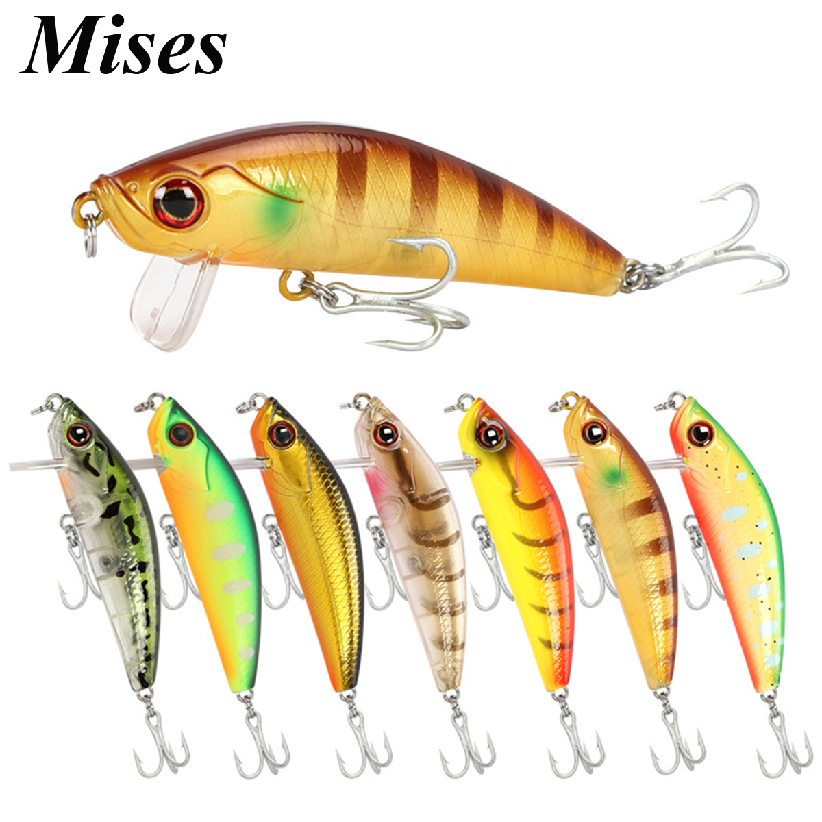Mises 6.5cm 6.35g Ten Colors Floating Bionic Minnow Lure Artificial Bait Plastic Hard Bait Stream Fishing Lure Fishing Tackles