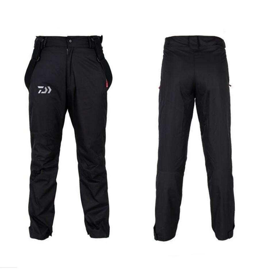 2017 Brand Antumn Winter Outdoor Warmth Warm Sports Pants Professional Men Fishing Pants Waterproof Pants Breathable Fleece