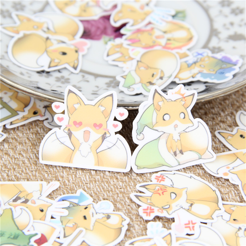 40 Pcs Fox Angry Cartoon Stickers For  Fashion Laptop Snowboard Home Decor Car Styling Decal Fridge Doodle Kid Toy Sticker