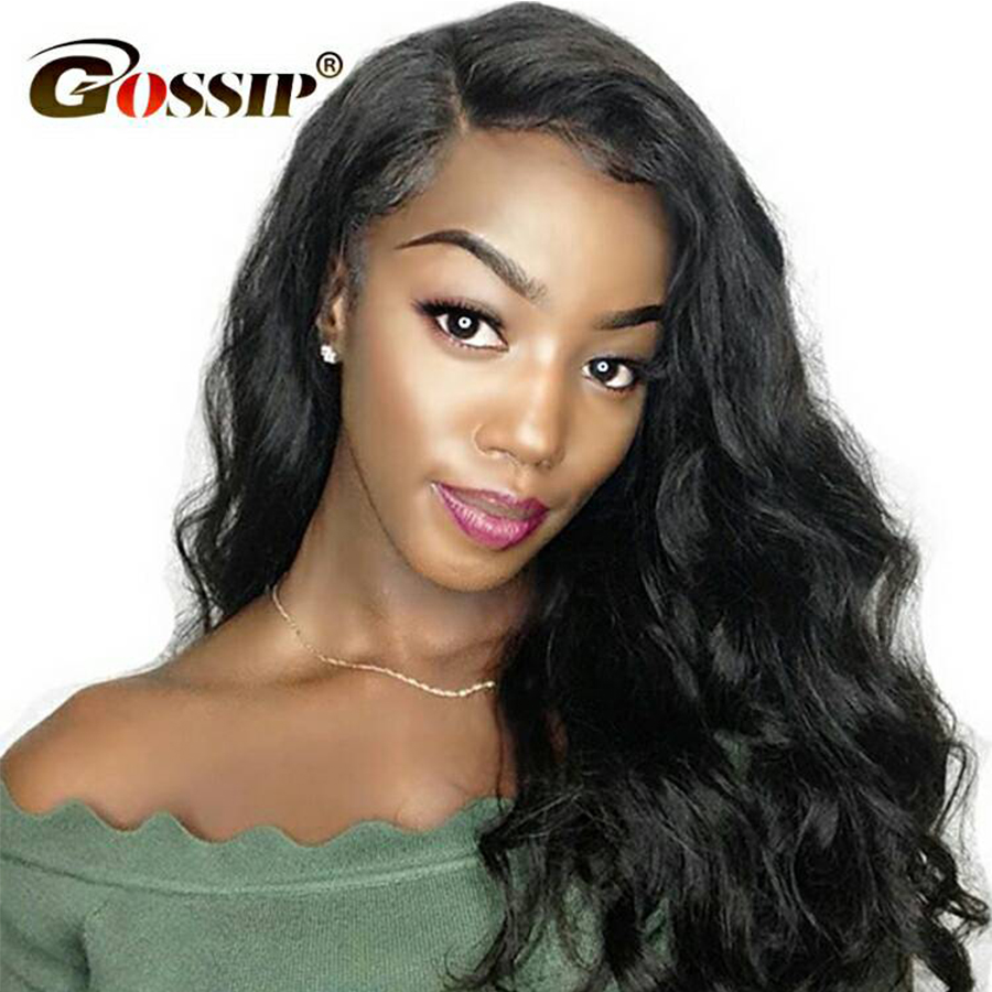 Gossip Hair Full Lace Wig Body Wave Human Hair Wigs Glueless Full Lace Wigs Pre Plucked Peruvian Remy Human Full Lace Hair Wigs