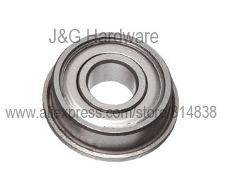 F697ZZ Flanged Bearing 7x17x5 Shielded Ball Bearings 100 pieces
