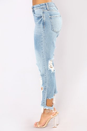 59cc2276b89b9 Female Plus Size Boy Friend Hole Ripped Jeans Women 2019 Fashion Street  Style Sexy Cool Denim Vintage Straight Casual Denim Pants.