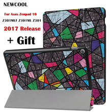Painted Case for ASUS Zenpad 10 Z301MLF Z301ML Z301 10.1″ Tablet Case, PU Leather Stand Auto Wake Smart Cover case +screen film