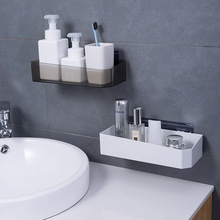 Bathroom Shelf Adhesive Storage Rack Wall Hanging Kitchen Home Decoration Accessories