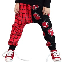 Children Brand Clothing Kids Spiderman Pants Boys Girls Cartoon Hero Trousers Baby Harem Pants Retail Hot sale