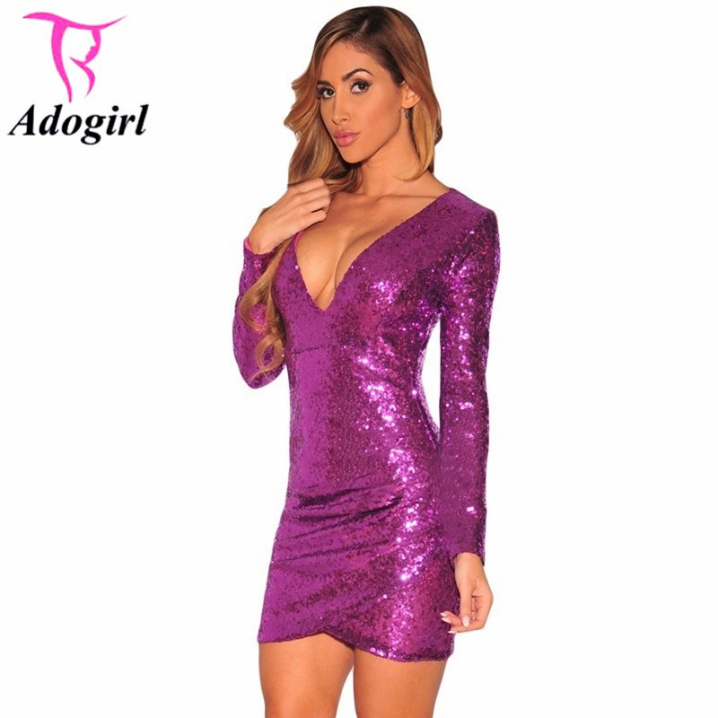 Compare Prices on Long Sleeve Purple Sequin Dress- Online Shopping ...