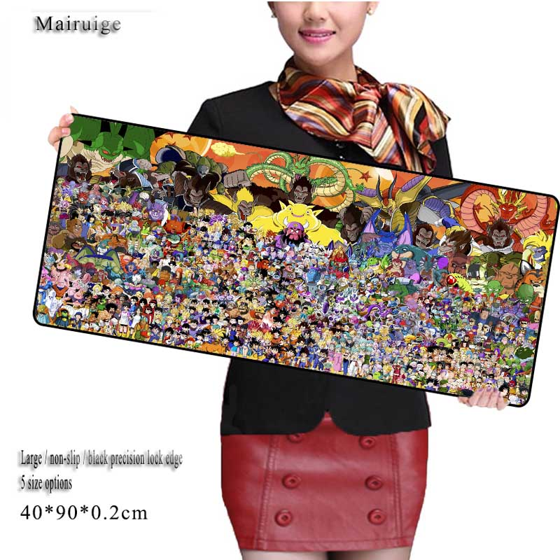 Mairuige Shop Free Shipping Dragon Ball Z Locked Edge Large  Mouse Pad To Mouse Notbook Computer Mousepad  Gaming Gamer To CS GO