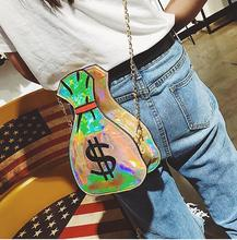 DHL 10 pieces embroidery laser purse money bag US dollar ladies shoulder bag chain handbag flap crossbody messenger bag pouch cute embroidered applique fashion striped ice cream design ladies shoulder bag handbag crossbody mini messenger bag pouch flap