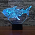 7 Colors Change USB Night Light Touch Button LED 3D Illuminated Shark Lamp Bedroom acrylic Desk Table Decor Lighting IY803465