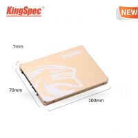 KingSpec SSD 480gb 2.5 SATA 480 gb ssd SATA III 500gb SSD hdd Internal Solid State Drive Gold Metal for Desktop Laptop PC gift