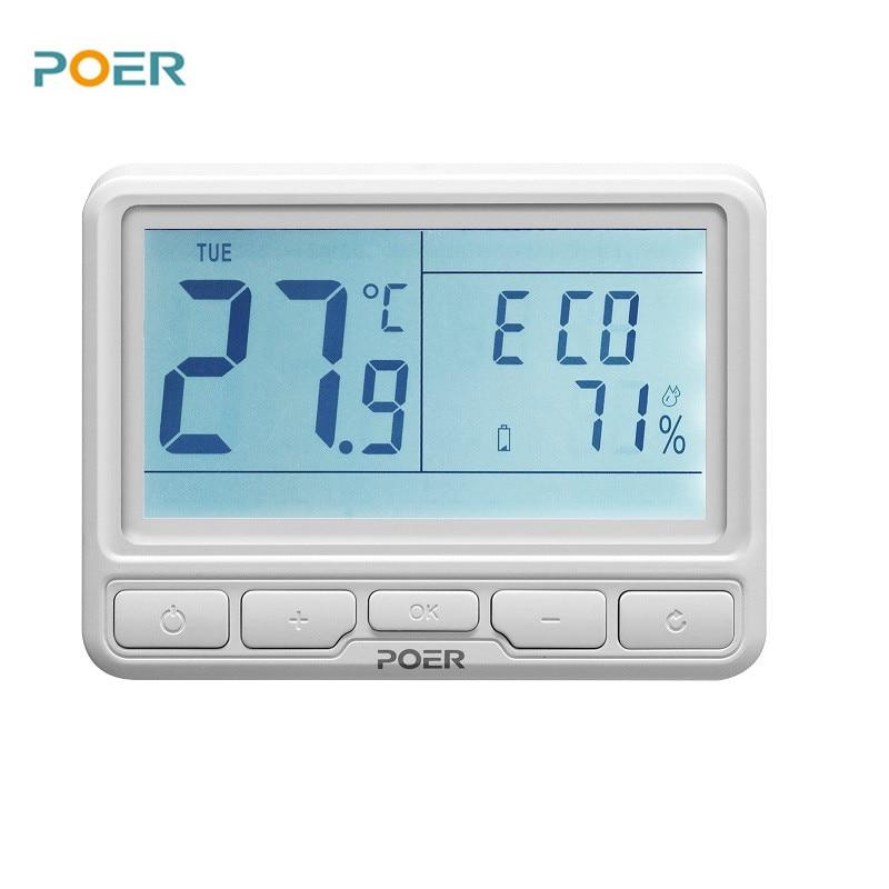 bezdrátový kotelna digitální termoregulátor wifi inteligentní - Měřicí přístroje - Fotografie 2