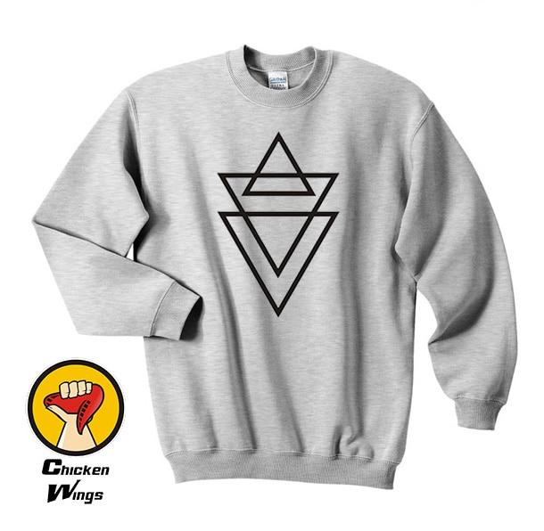 triangle print shirt cross religion swag top man hype Top Crewneck Sweatshirt Unisex More Colors XS