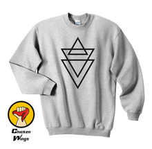 triangle print shirt cross religion swag top man hype Top Crewneck Sweatshirt Unisex More Colors XS - 2XL