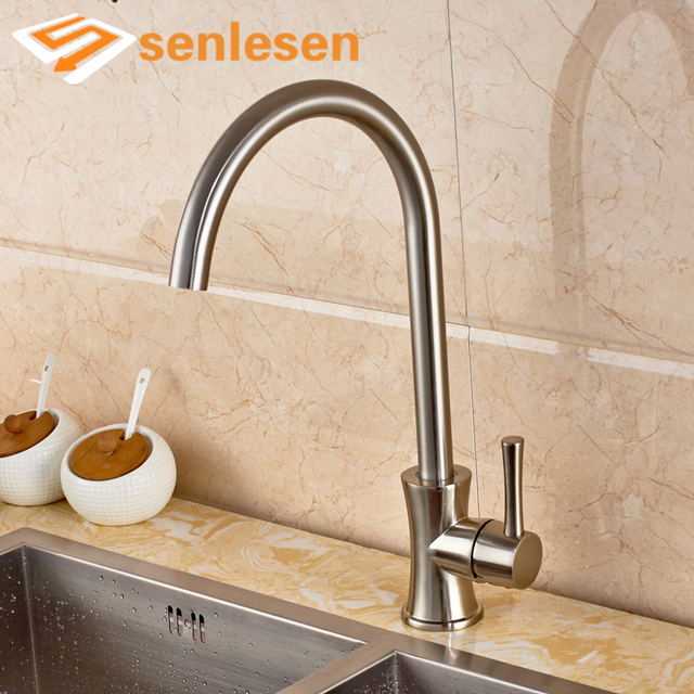 Retail Simple Design Water Taps For Kitchen Single Handle Deck