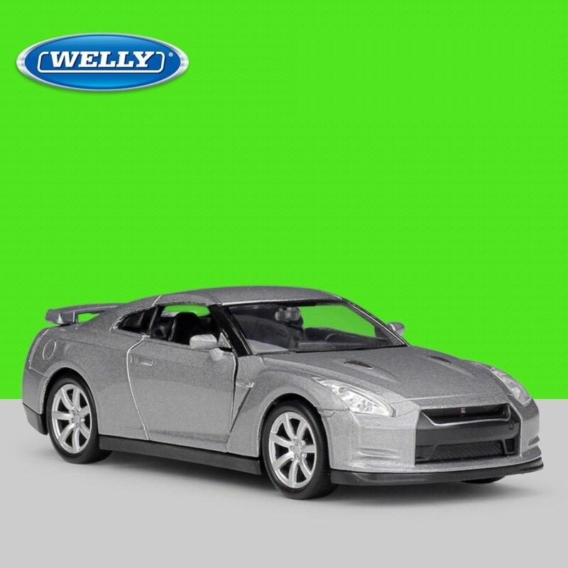 1:36 Welly Nissan GTR R35 Alloy Toys Pull Back Diecast Model Car
