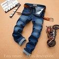 SULEE marca 2016 nuevos Vaqueros Otoño Azul colores rectas Mediados de Cintura Denim Regular Fit Jeans Pantalones Vaqueros Otoño