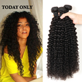 3 Пучки Малазийский Странный Вьющиеся Волосы Remy Девственницы Вьющиеся Волосы Естественным Вьющиеся Ткет Странный Вьющиеся Наращивание Волос HJ Красотки Weave