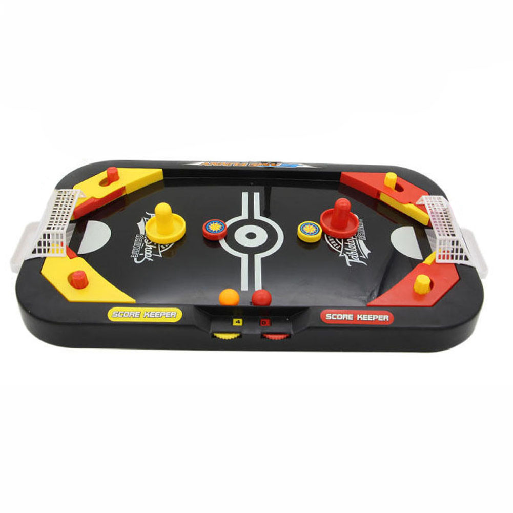 2 In 1 Mini Hockey Soccer Game Arcade Style Ice Hockey Table Play Family Interactive Sports Kids Fun Toy Gifts 998