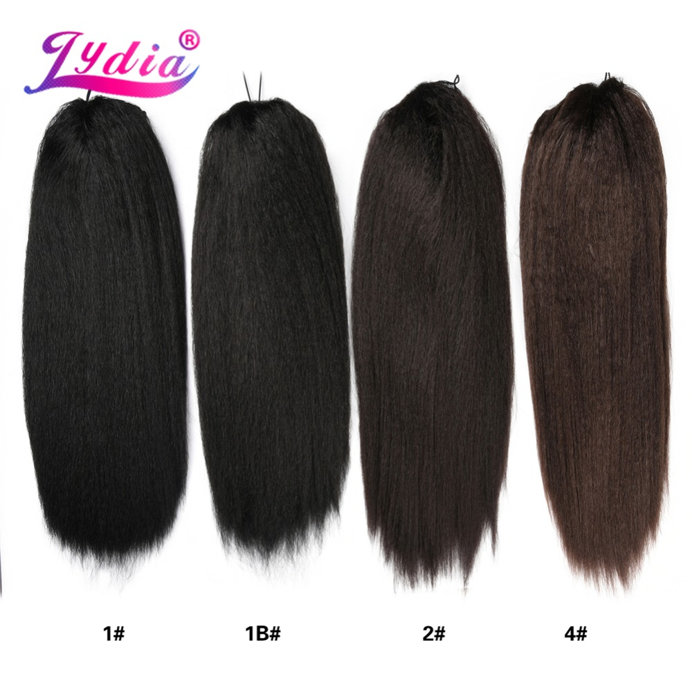 HTB1LBFbayjrK1RjSsplq6xHmVXaT - Lydia Heat Resistant Synthetic 30 Inch Kinky Straight Hair With Two Plastic Combs Ponytail Extensions All Colors Available