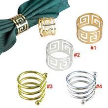 Домашний 6 шт. кольца для салфеток, держатель для салфеток, западное обеденное полотенце, кольцо для салфеток, вечерние украшения стола LS OC3116