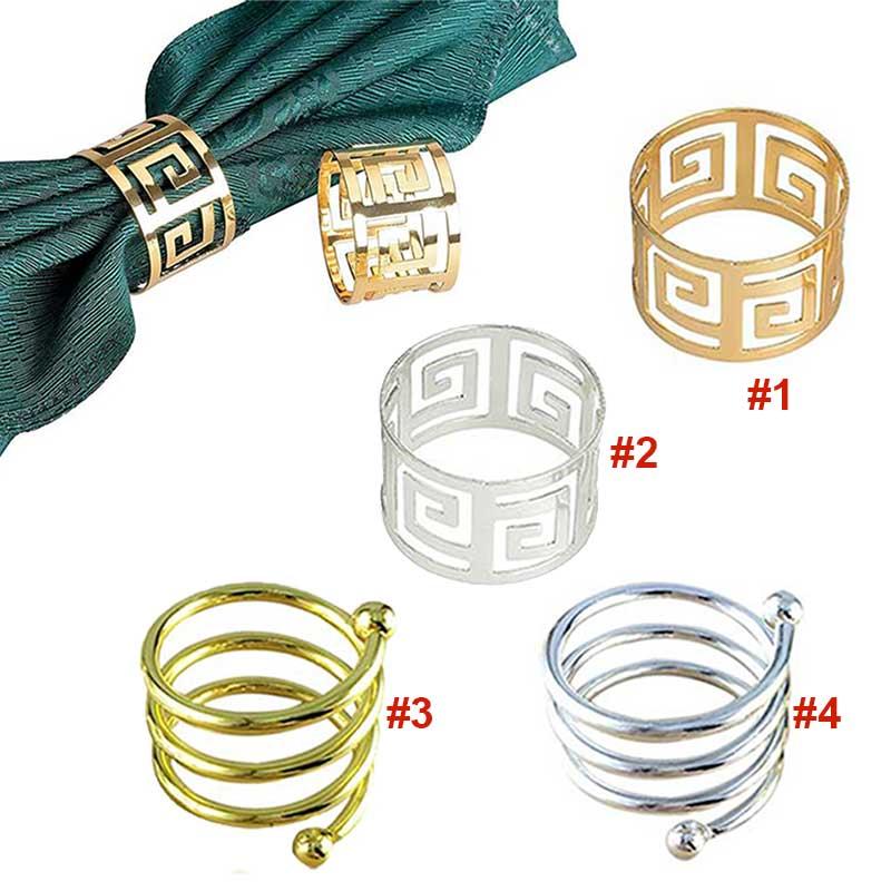 Домашние кольца для салфеток, 6 шт., держатель для салфеток, West Dinner Towel, кольца для салфеток, вечерние украшения, стол LS OC3116