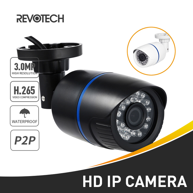 H.265 Waterproof 3MP Bullet IP Camera 1296P / 1080P LED IR Outdoor Security Night Vision CCTV System Video Surveillance HD Cam