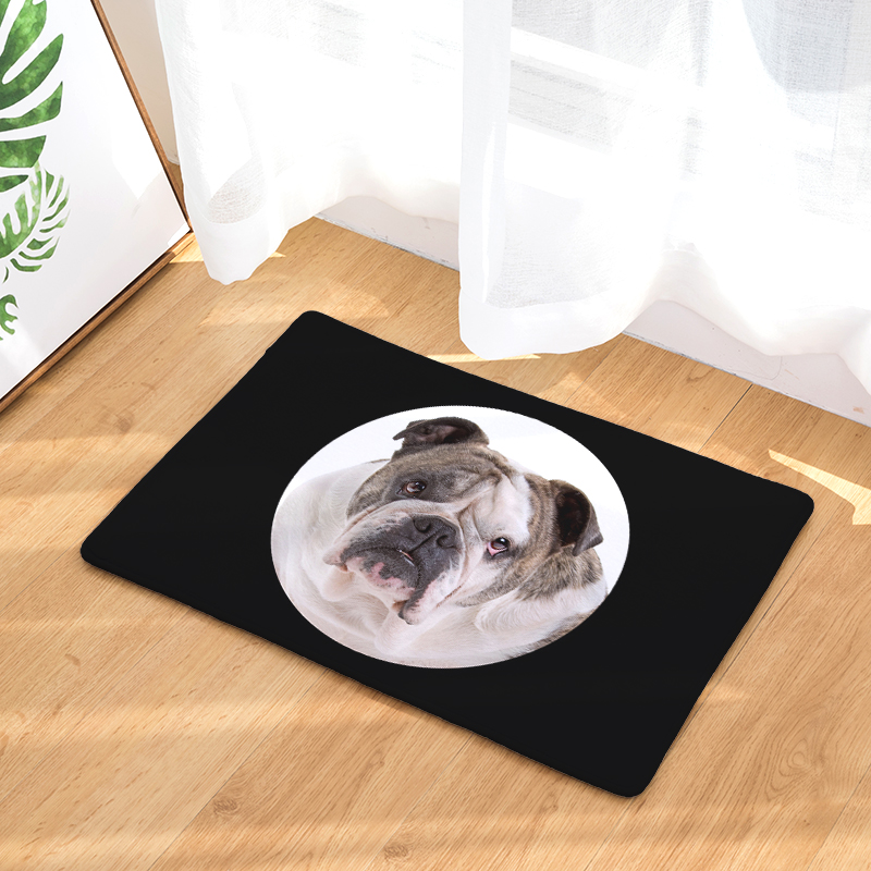 2017 New Big Head Dog Print Carpets Non-slip Kitchen Rugs for Home Living Room Floor Mats 40x60cm