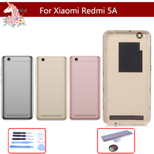 10pcs/lot  Rear Back Housing for Xiaomi Redmi 5A Cover Battery Door with Power Voluem Button For Replacement Parts