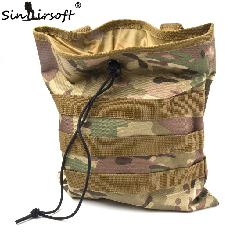 Molle Army Sports Bag Large Capacity Military Tactical Airsoft Paintball Hunting Folding Mag Recovery Dump Pouch Belt Loop Bags