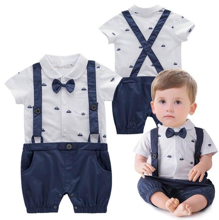 Темно-синие детские комбинезоны Сейлор лодка Мягкий хлопок высокое качество новорожденных детские вещи комбинезоны цельный джентльмен га...