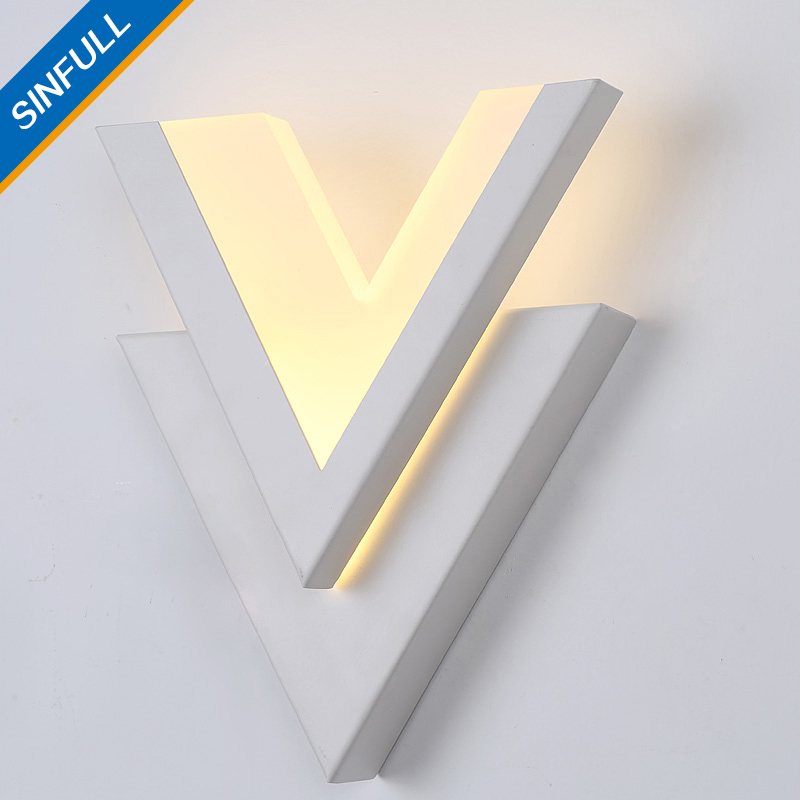 SINFULL Modern Brief Led 9w Wall Lights Acrylic Bedside Wall Sconces Stair bedroom asile balcony 90-260V lighting lamps vemma acrylic minimalist modern led ceiling lamps kitchen bathroom bedroom balcony corridor lamp lighting study