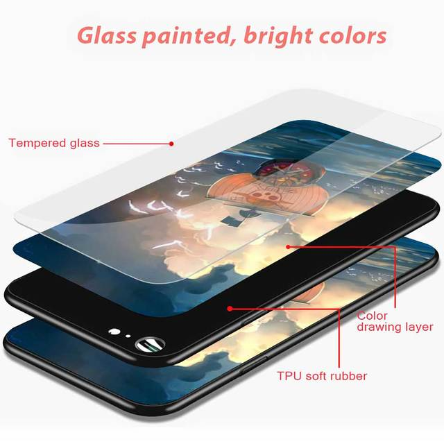 One Piece Luffy Tempered Glass Case Cover for iPhone Models