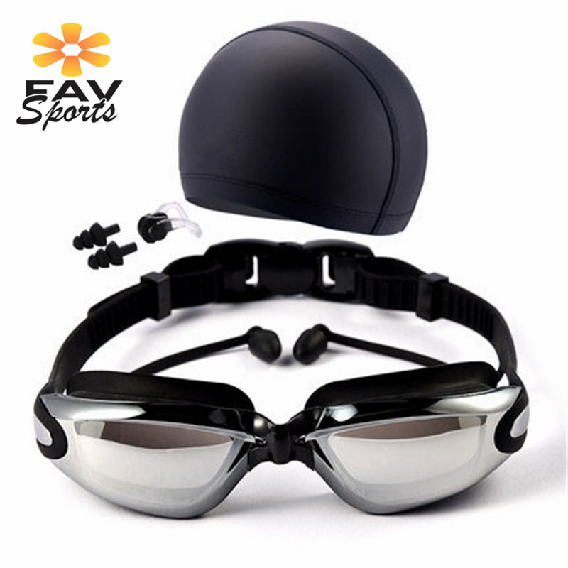 3pcs/set Myopia Swimming Goggles HD Shortsighted Swimming Glasses Swim Goggles UV Anti Fog Nearsighted Swimming Pool Glasses boihon bh017 anti fog uv protection hd vision swimming goggles