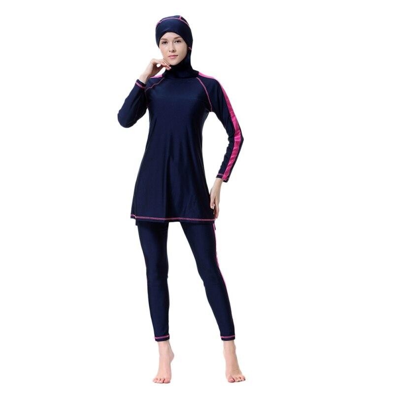 Affidabile New Musulmano Costume Da Bagno Crema Solare Nero Islamica Ladies 'costumi Da Bagno Costumi Da Bagno Modesto Con Copertura Completa Musulmano Costumi Da Bagno Con Il Tappo W1 Smoothing Circulation And Stopping Pains