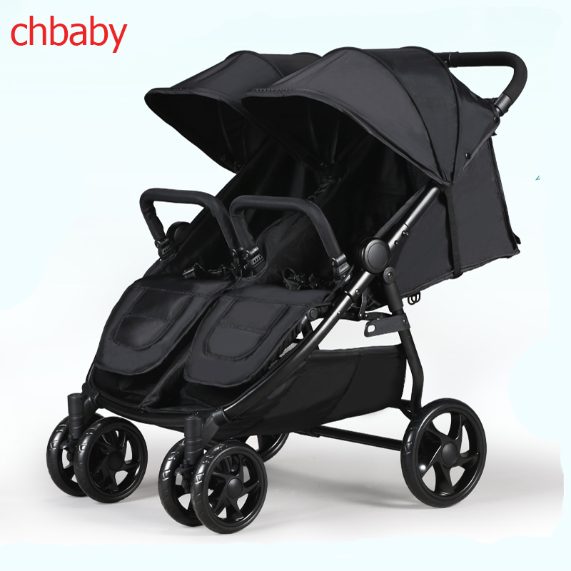 Chbaby Twin Baby Stroller Can Sit and Lie, Double Trolley, Four Wheel Shock Absorbers light folding baby stroller baby stroller baby stroller shock absorbers light folding stroller 4runner