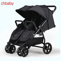 Chbaby Twin Baby Stroller Can Sit and Lie, Double Trolley, Four Wheel Shock Absorbers light folding baby stroller