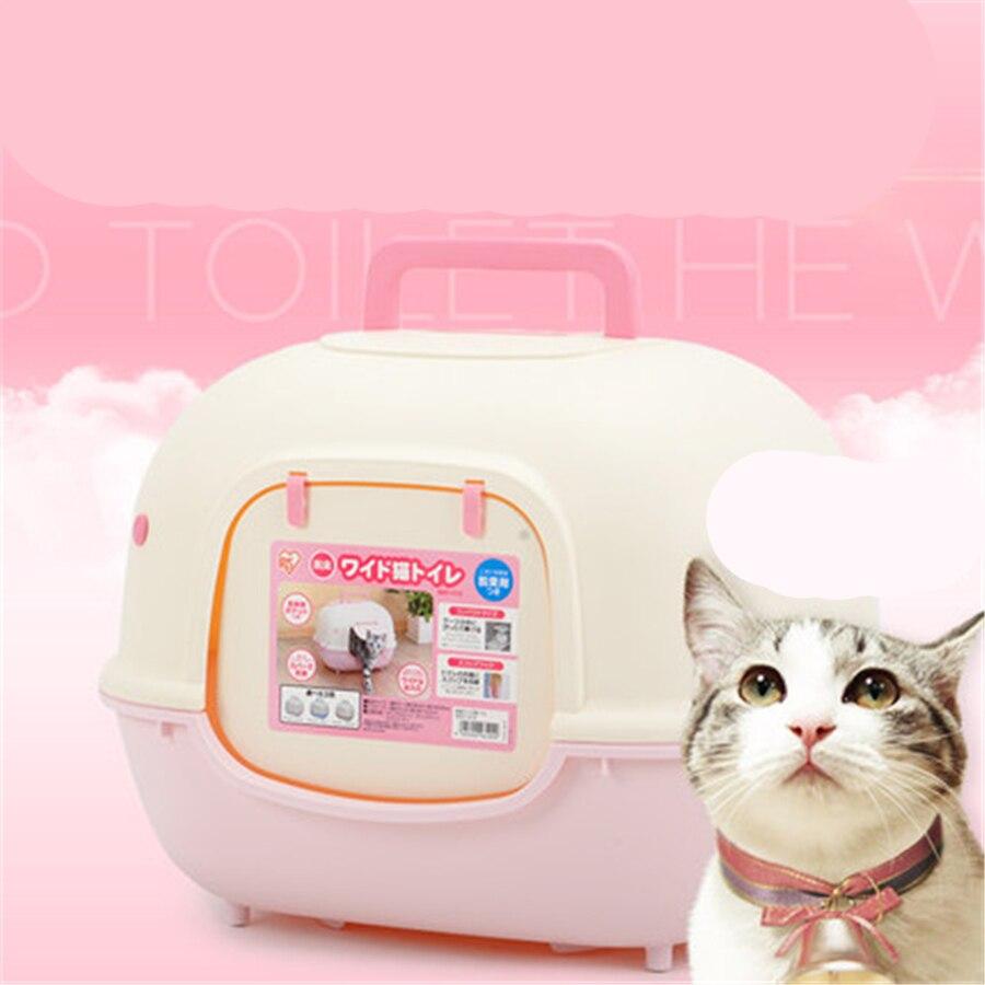 Закрытым Закрытая большой кошачьих туалетов Box Туалет Лоток для животных Товары собака лоток туалет для Товары для кошек коробка горшок ...