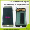1 шт. серебро ЖК-Экран испытано 5.5 дюймов FHD 2560x1440 жк-дисплей + дигитайзер Сенсорная Панель планшета Для Samsung S7 Edge SM-G9350