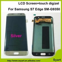 1 unids plata lcd prueba de la pantalla de 5.5 pulgadas fhd 2560×1440 pantalla lcd + touch panel digitalizador digitalizador para samsung s7 edge sm-g9350